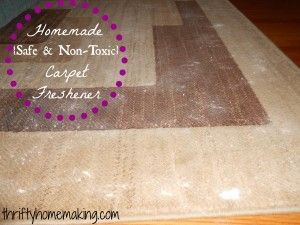 DIY Safe, Non-Toxic Carpet Freshener from Thrifty Homemaking