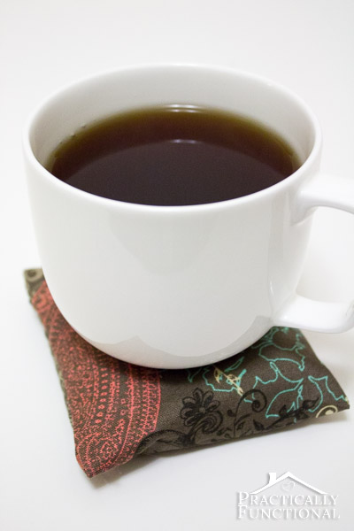 Make your own scented hot pad coasters - When you set a hot mug on it, the heat releases the scents! Perfect gift for any coffee or tea lover!