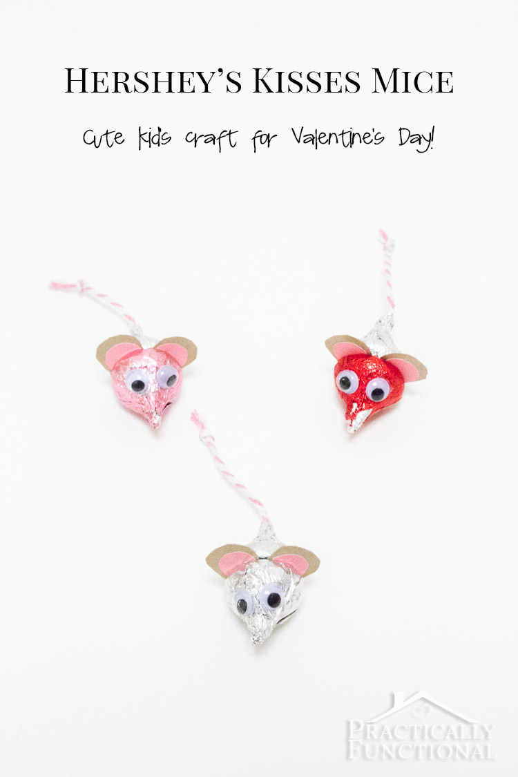valentines hersheys kisses mice