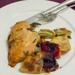 Roasted Chicken With Fennel And Apples