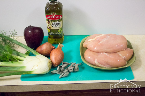 Roast Chicken With Fennel And Apples
