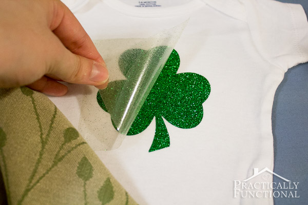 Make your own St. Patricks Day baby onesie in just five minutes!