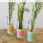 These DIY paper wrapped vases are the perfect quick and easy centerpieces for any occasion!