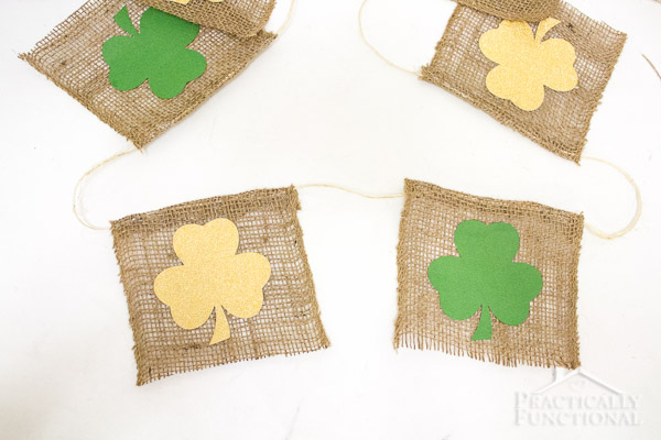 How To Make A St. Patrick's Day Shamrock Bunting-5
