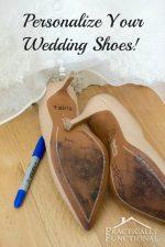 Something Blue Personalized Wedding Shoes