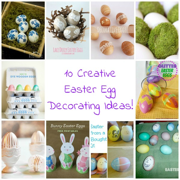 Ready to decorate Easter eggs?! Here are 10 creative Easter egg decorating ideas anyone can do!