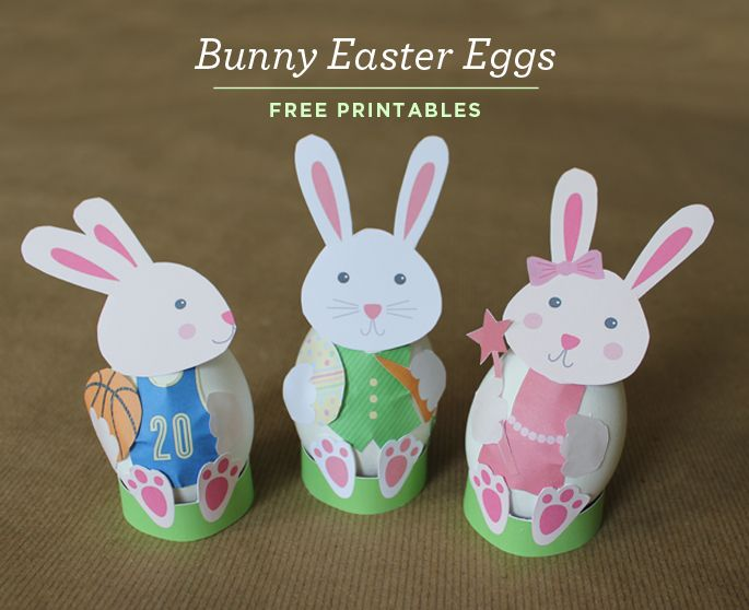 Bunny Easter Egg Printables from Just Add Confetti