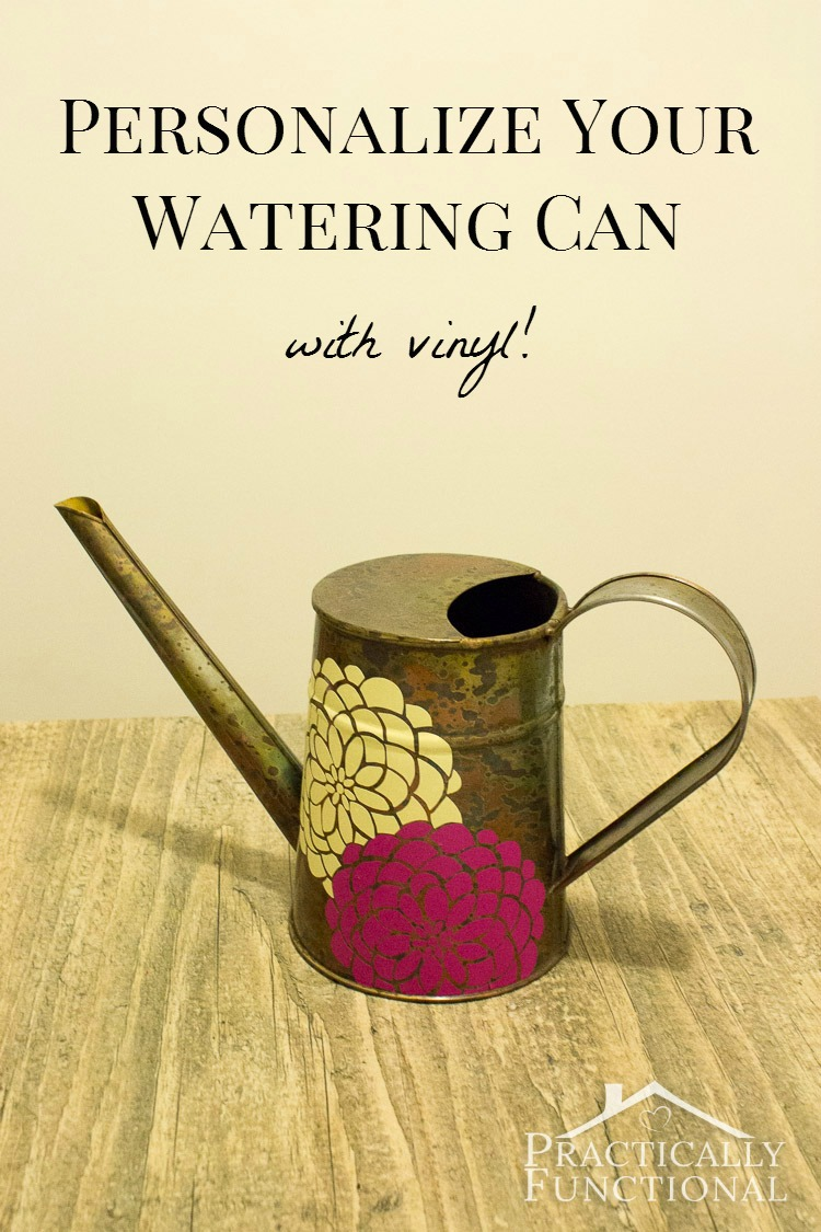 Decorate A Watering Can With Vinyl!