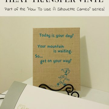 How To Use A Silhouette Cameo: Heat Transfer Vinyl
