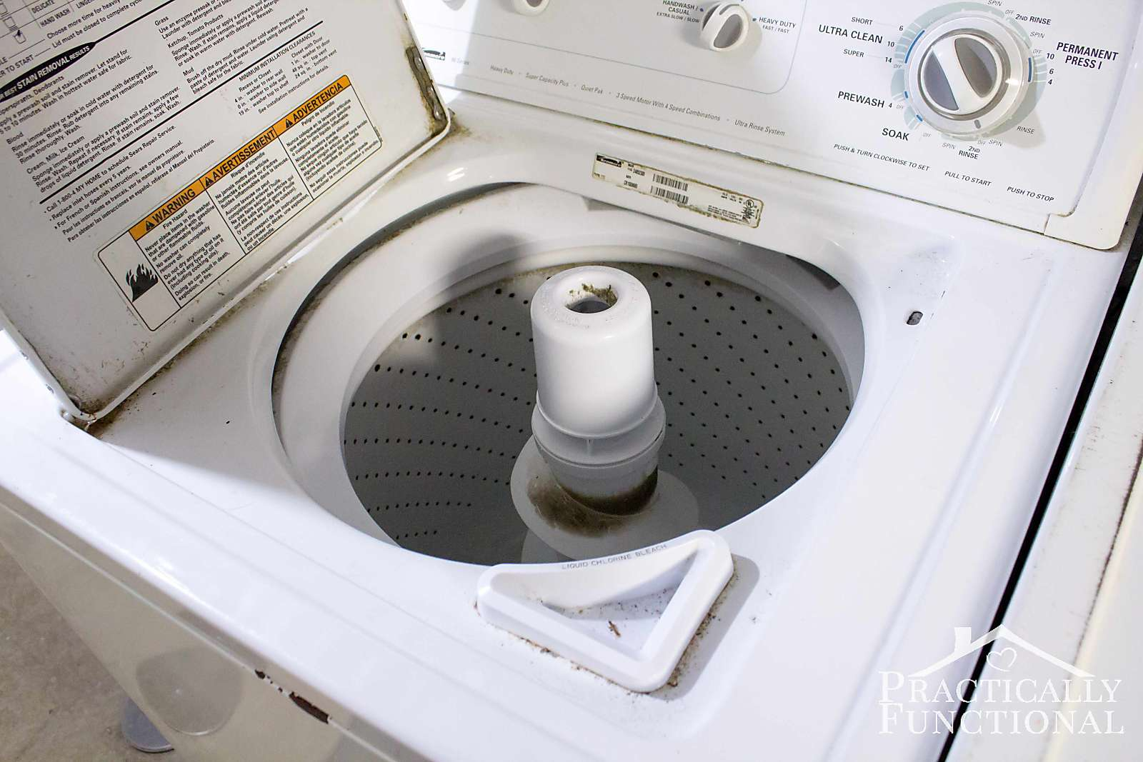 how do you clean a top loading washing machine