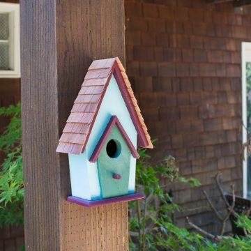 Simple Backyard Decorating Ideas: Paint A Birdhouse!