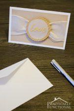 """DIY """"Love"""" Wedding Card {+ Free Cut File}"""