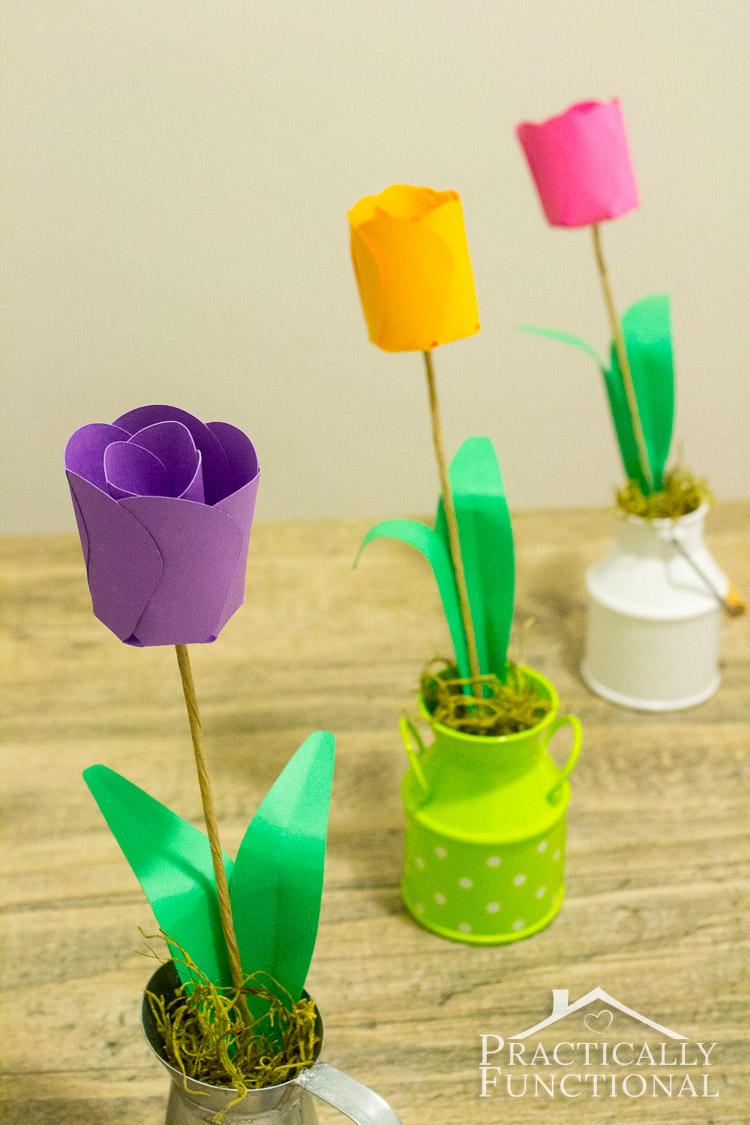 3D Paper Tulips