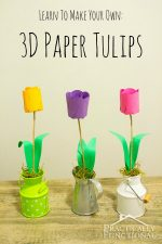 How To Make Paper Flowers: 3D Paper Tulips