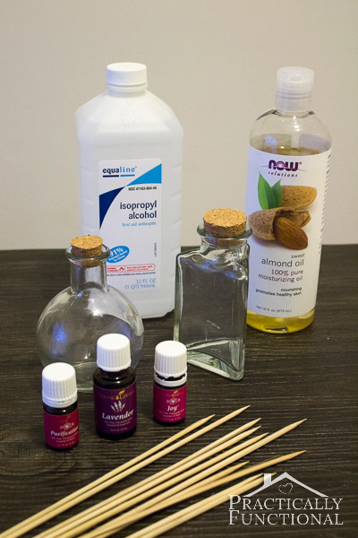 Essential Oils Diffuser For Less ~ How to make your own reed diffuser