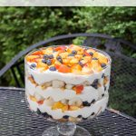 This summer peach blueberry trifle is the perfect summer dessert, great for parties