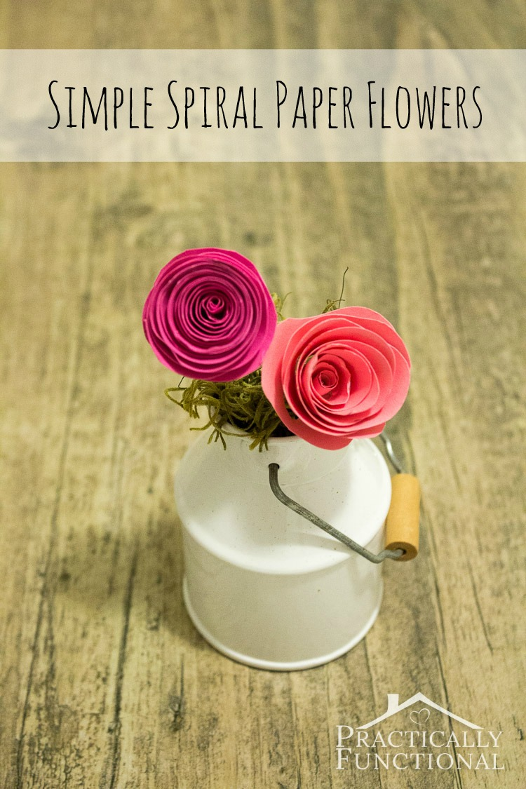 Simple Paper Chick Craft: Simple Spiral Paper Flowers