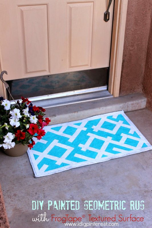 DIY Painted Geometric Rug by I Dig Pinterest