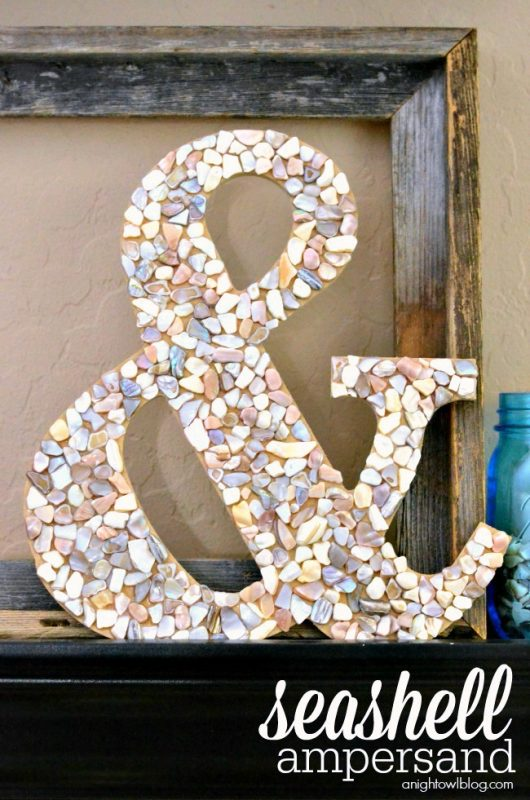 DIY Seashell Ampersand from A Night Owl Blog
