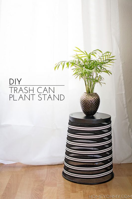 DIY Trash Can Plant Stand by Homey Oh My
