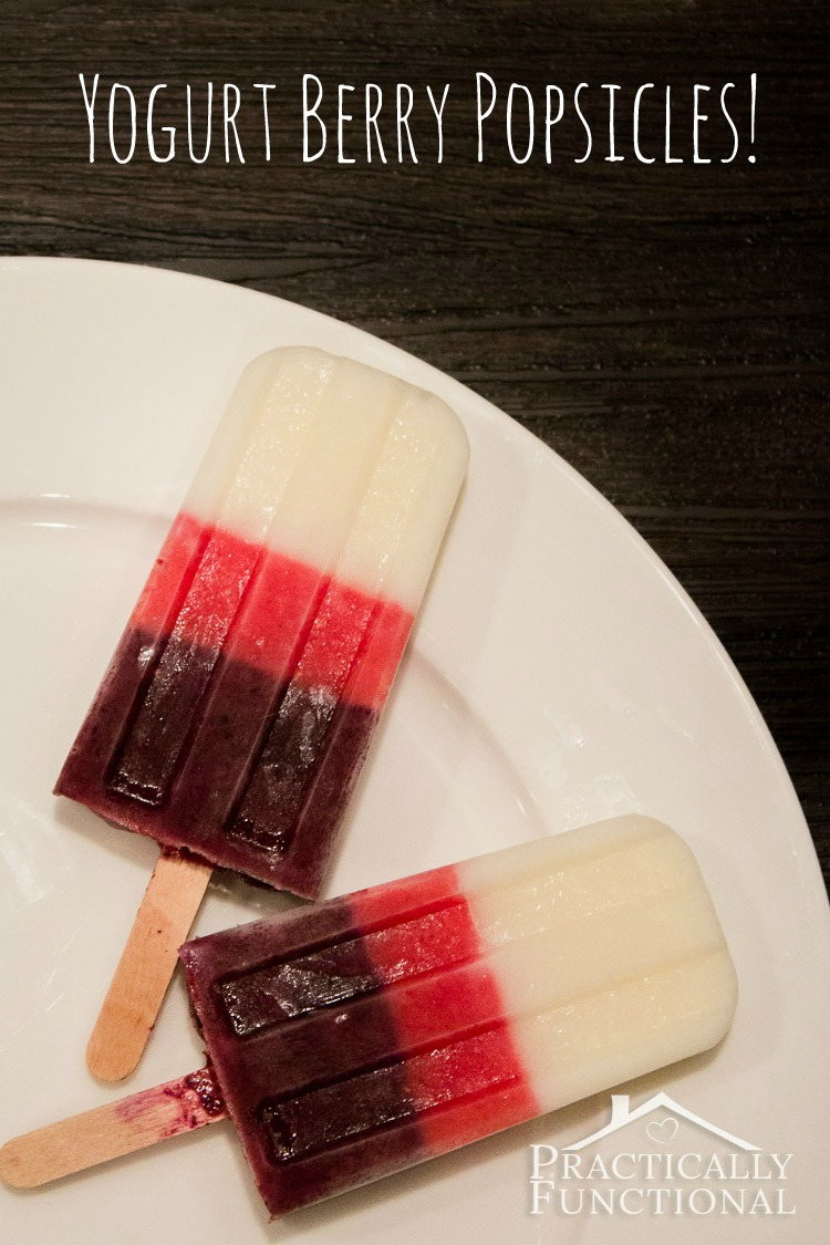 Homemade Yogurt Berry Popsicles