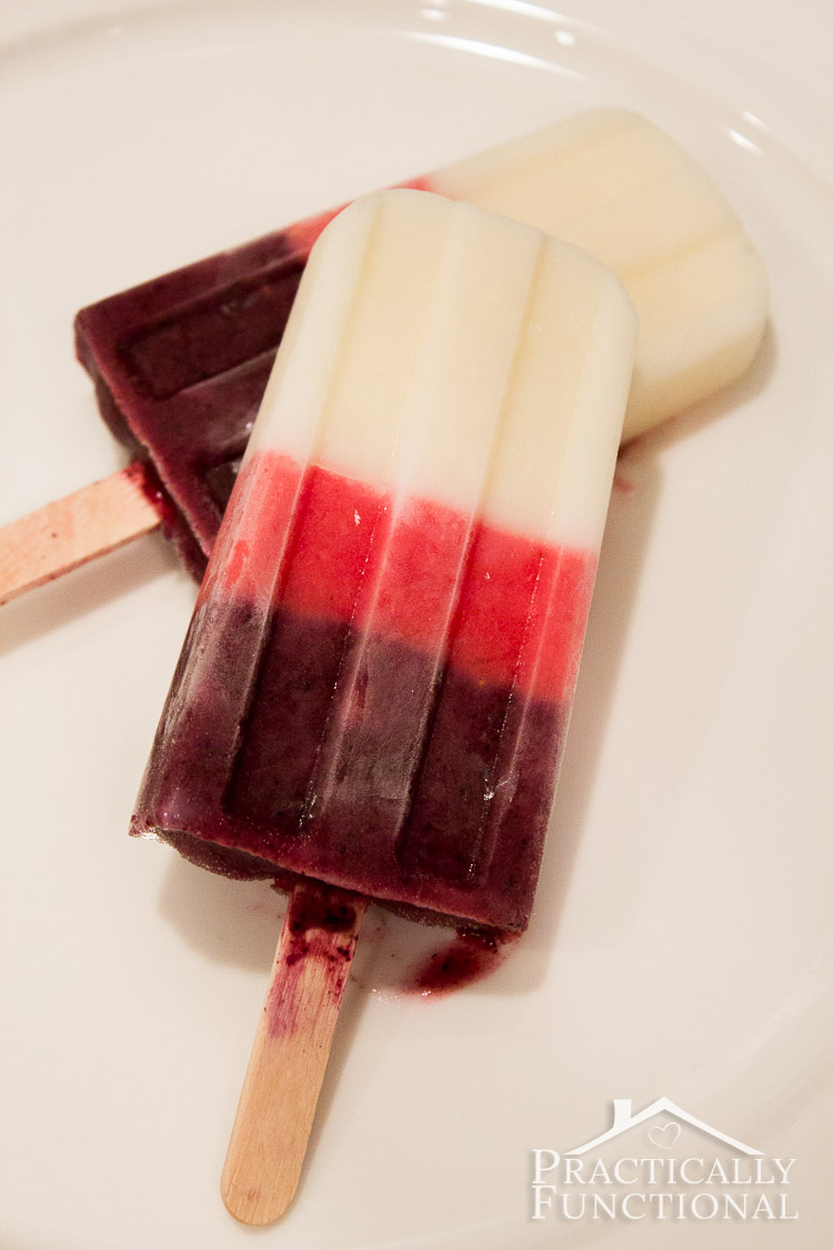 Homemade Yogurt Berry Popsicles: Perfect summer treat to beat the heat, and they only require three ingredients!