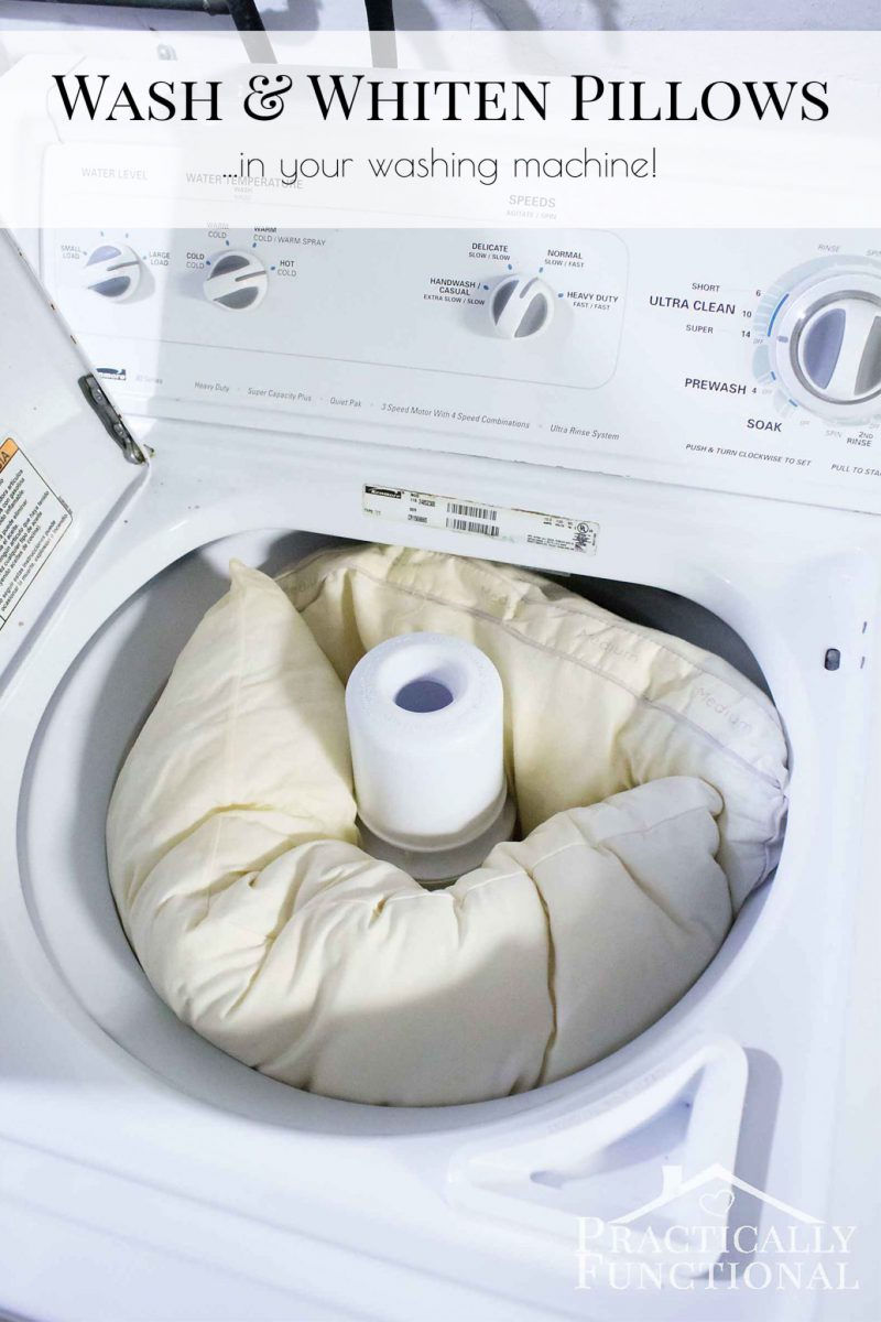 How to wash and whiten pillows in a washing machine