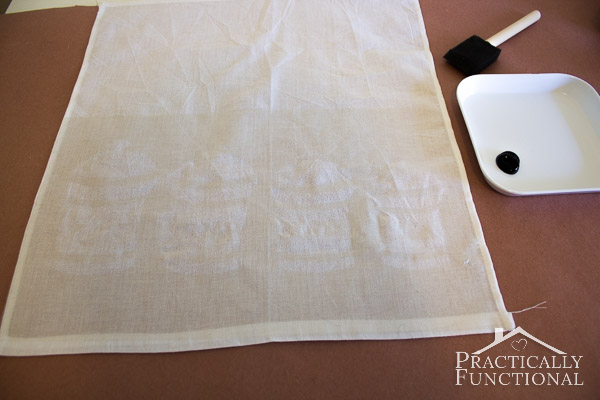 Make Your Own Stenciled Tea Towels