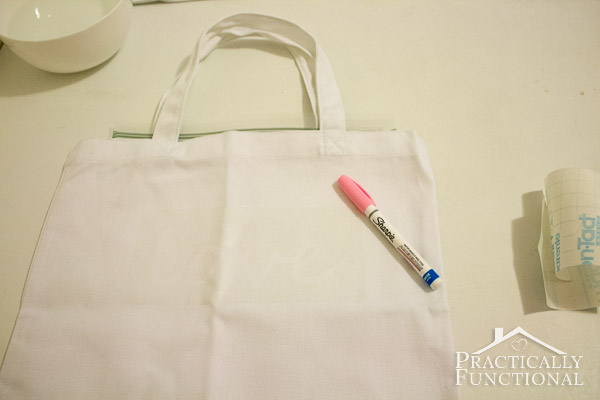 Make a watercolor tote bag with paint pens!