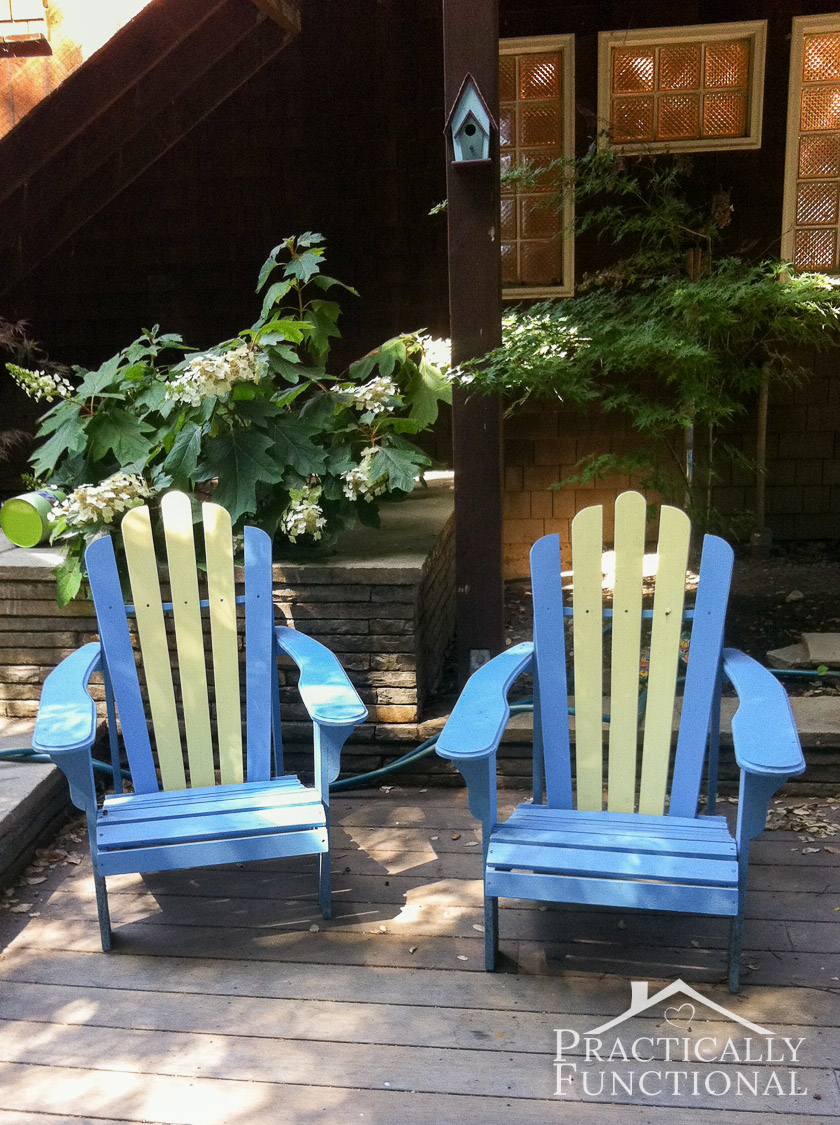 DIY Painted Adirondack Chairs: Painting Adirondack chairs is way easier than you might think!
