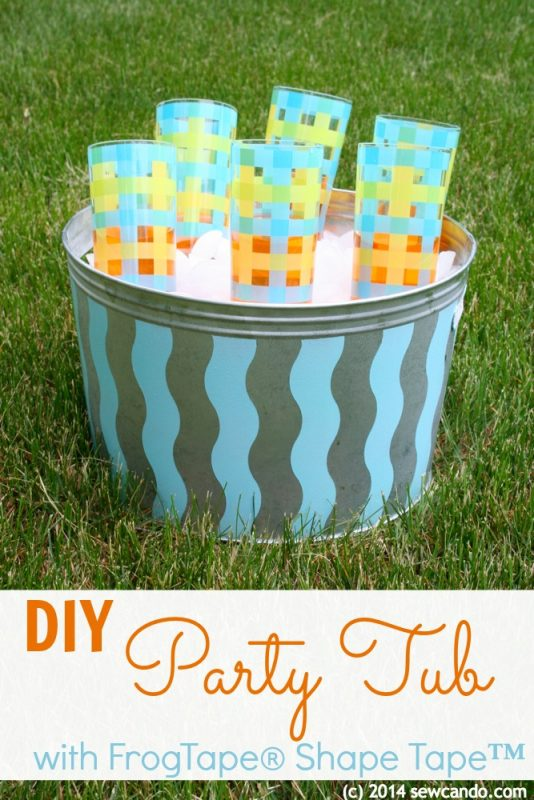 Painted Metal Party Tub from Sew Can Do