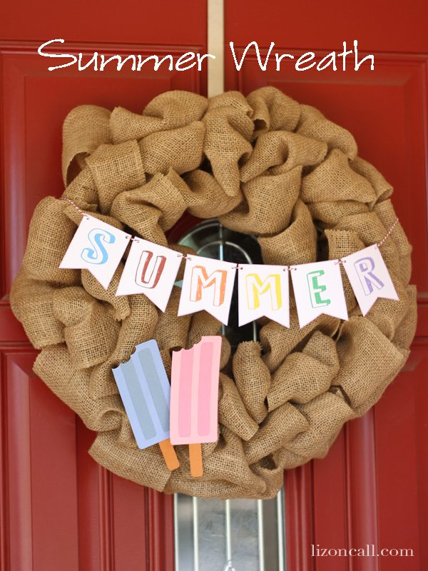 Summer Wreath from Pink Cake Plate