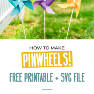 How to make a pinwheel with a simple template