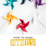 How to make pinwheels with this printable template