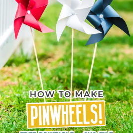 Learn how to make paper pinwheels in minutes with this large pinwheel template