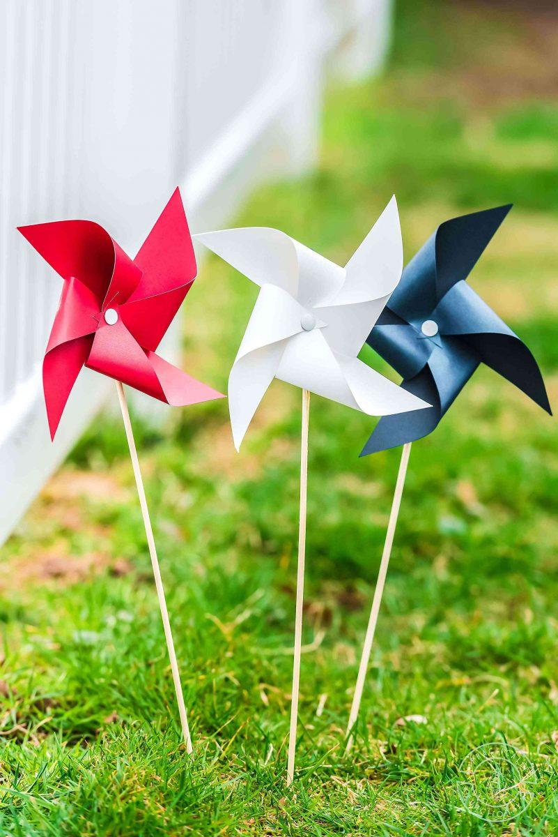 Paper pinwheel craft with free paper pinwheel template