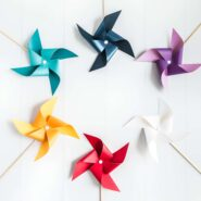 Printable pinwheel templates to make paper pinwheels from any color paper