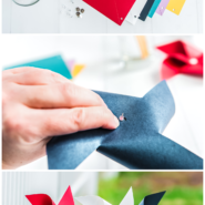 Simple steps to make a paper pinwheel with this printable template