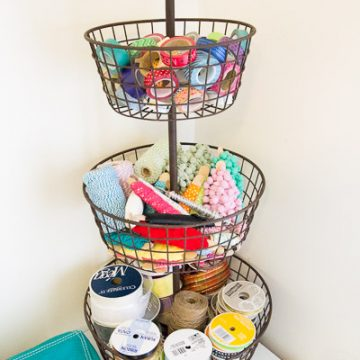 Craft Room Organization: Cute And Functional!