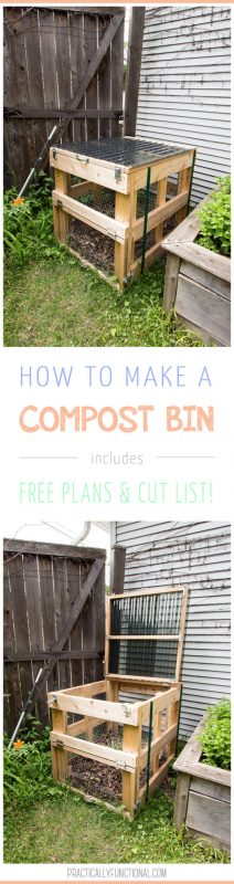 How to build a DIY compost bin plus free plans