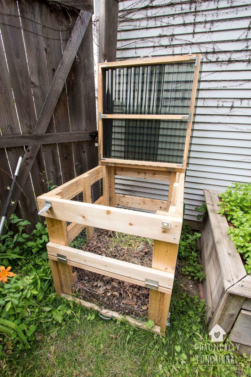 How To Build A DIY Compost Bin (+ free plans!)