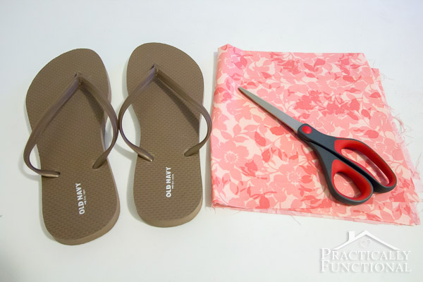How to make fabric flip flops for under $5!