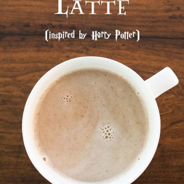 Harry Potter Inspired Butterbeer Latte