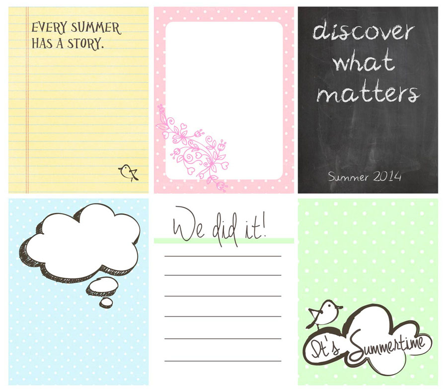 Free Journal Cards Printable