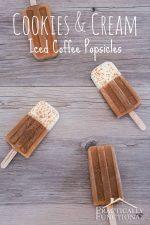 Cookies & Cream Iced Coffee Popsicles