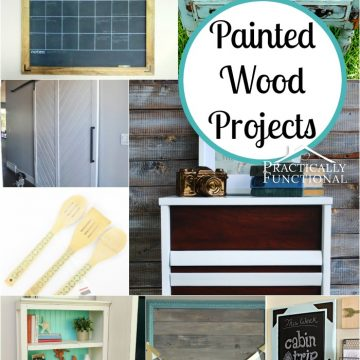 Painted Wood Projects via Practically Functional