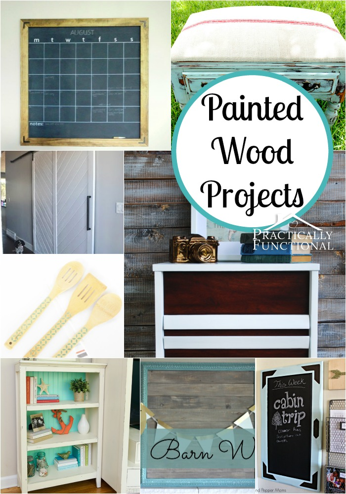 Inspiring painted wood projects for Wood craft painting ideas