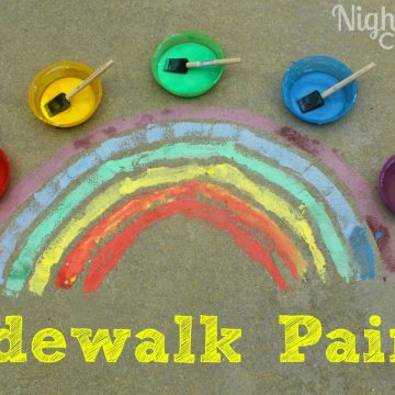 Make Your Own Sidewalk Paint