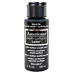 Americana Multi-Surface Satin Acrylic Paint in Black Tie