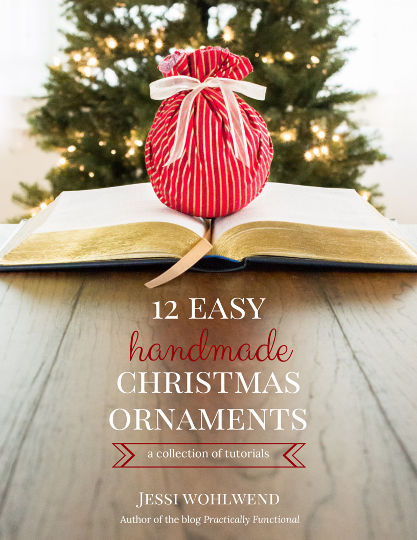 12 easy tutorials for handmade Christmas ornaments, all in one ebook!